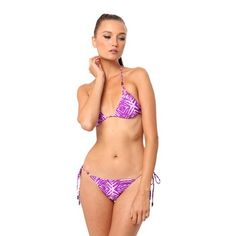 Nookie Zanzibar Triangle Bikini-Purple. Sale $29.99