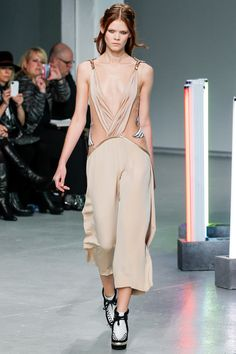 Jumpsuit with plunging neckline and wing detail. #Rodarte #FW2013 #NYFW