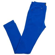 5 Pocket Skinny Pants - Jr. LIKE AN ANGEL $14.99 Compare at $26.00  You save up to 42% SELECT COLOR :      DYNASTY GRN     ALGERIES BLU     BLUE BLAZE  SELECT SIZE : View Size Chart      S     M     L  QUANTITY : – 5 Left! – ADD TO CART PRODUCT DESCRIPTION  She'll love these pants. Bold colors coat the exterior for a pop of color to her outfit. Skinny silhouette is flattering. Stretchy, five pocket design.