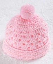 Precious in Pink Hat from Crochet Hats & Wraps for Baby!