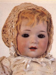 18-in Armand Marseille G 327 B character baby. Mold registered 1913 under patent #259. Exclusive for N.Y. firm of George Borgfeldt and carries initials G.B.