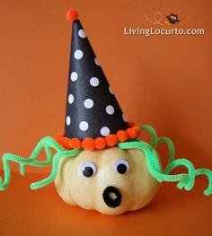 Easy to make Pumpkin Witch! #Halloween Craft by @Amy Locurto {LivingLocurto.com}