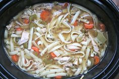Slow Cooker Leftover Turkey Noodle Soup- Perfect for those turkey leftovers