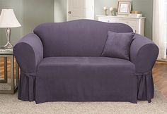 Sure Fit Slipcovers Soft Suede One Piece Slipcovers - Sofa