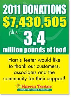 Harris Teeter believes in giving back to our communities.