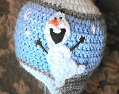 Olaf Inspired Hat with his own Snow Flurry