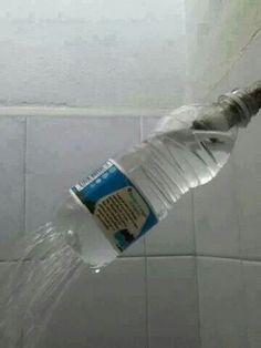 Plastic bottle shower head