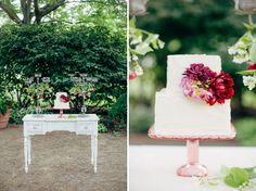 Garden-inspired wedding cake