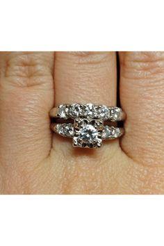 Antique wedding ring set
