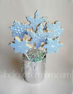 Snowflake Cookies - Christmas Cookies Recipe - A Helicopter Mom