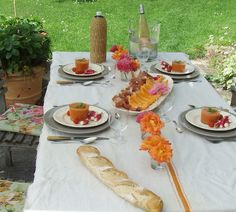 Fantastic french lunch in the garden.