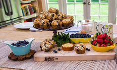 Home & Family - Recipes - Jewel's Blueberry Muffins | Hallmark Channel  4/9