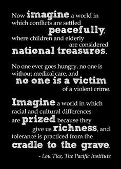 Lou Tice's words...