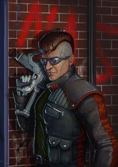 Cyberpunk, Implants, Future Warrior, Death Hawk, Cyborg, Solo by ~Janihoo on deviantART
