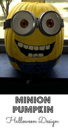 Check out this adorable MINION pumpkin design for Halloween!!-->http://www.debtfreespending.com/?p=86564