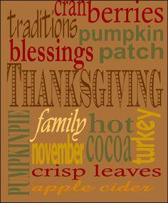 Thanksgiving Subway Art : Faithfully Fit Families