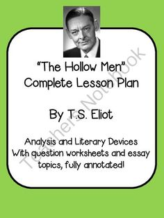 T.S. Eliots -Contains everything you need to teach this poem, even thorough annotated notes that go line-by-line through the poem, explaining what it is about.
