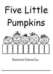 Free book of 5 Little Pumpkins