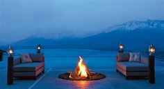 I would love to sit in front of the fire and look out to the fjords.