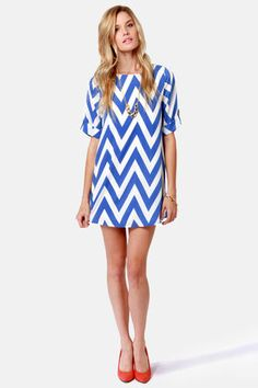 Can You Zig It? Chevron Print Dress