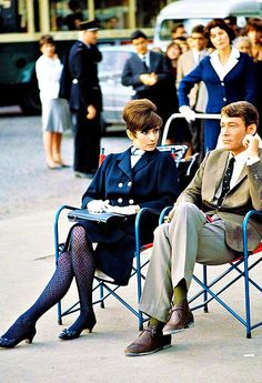Audrey Hepburn and Peter O'Toole in Paris, during the filming of How to Steal a Million, in 1965. Photo by Terry O'Neill