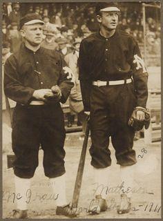 John McGraw and Christy Mathewson, New York Giants, 1911 World Series