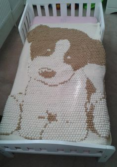 Kids Blanket - Puppy Crochet PATTERN via Craftsy