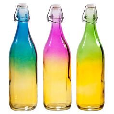 3 Piece Ombre Bottle Set