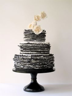 black & white frill by Maggie Austin