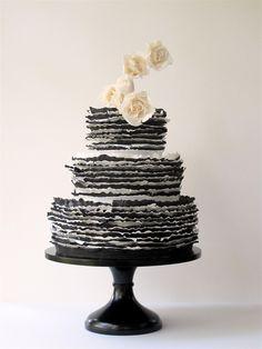 black & white frill by Maggie Austin