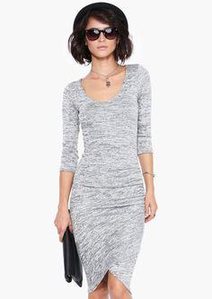 grey sweater dress.