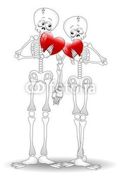 #Skeletons #Cartoon #Couple in #love - #Valentine's #Day-#Vector © bluedarkat #48243259 -     http://us.fotolia.com/id/48243259/partner/200929677