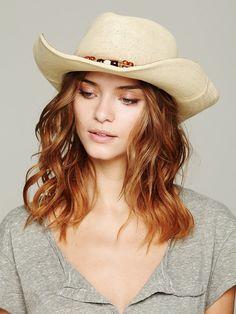 Free People Shiko Straw Cowboy Hat, 19.95