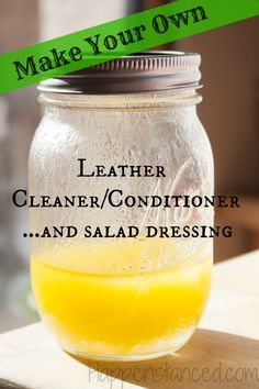 Super easy leather cleaner and conditioner  http://happenstanced.com/diy-leather-cleaner-and-conditioner/