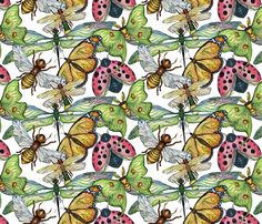 Wings fabric by theposhvagabond on Spoonflower - custom fabric