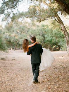 adorable wedding portrait