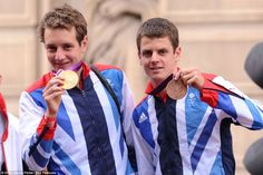 Winners: Edward and Jonathan Brownlee. Speaking from his float, triathlon gold medallist Alistair Brownlee said: 'It's amazing that so many people were interested'