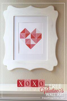 Free #Valentines wall art #printable on iheartnaptime.com
