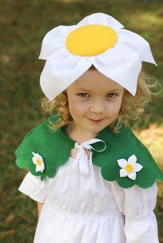 101-447x670 flower costumes, flower headbands, costume ideas, homemade flowers, daisi, flower costume diy, little flowers, hat, happy halloween