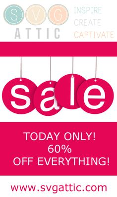 SALE TODAY ONLY! 60% OFF