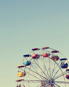 Cute Ferris Wheel. Summer.