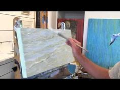 How to Paint Water Realistically (see written tips & tutorial on website here: http://www.explore-acrylic-painting.com/how-to-paint-water.html)