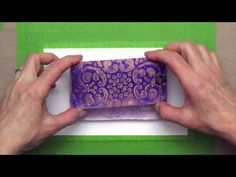 """New Gelli Arts Video! Loaded with great design ideas! Printmaking with Small Gelli™ Plates!!!! The NEW Gelli plate sizes are 3""""x5"""" and 5""""x7"""" ... just right for creating tags, cards, ATC's, postcards, small fine art prints or adding monoprinted images directly to larger work. The possibilities are endless!"""