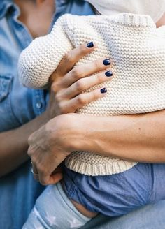 Knitwear & colour combo | Mom & baby | via Plum Pretty Sugar