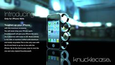 Knucklecase - Brass (aluminum) knuckle case for your iPhone 4/4s