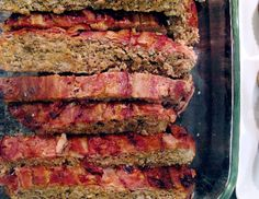 meatloaf- paleo style-  tomato sauce good for GAPS