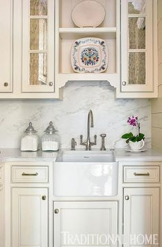 A butler's pantry with a sink