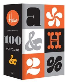 House Industries 100 Postcards