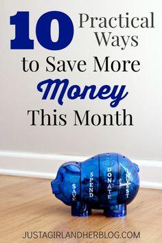 10 strategies everyone can implement to start saving money NOW!   JustAGirlAndHerBlog.com