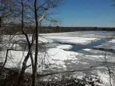 Maurice River in winter